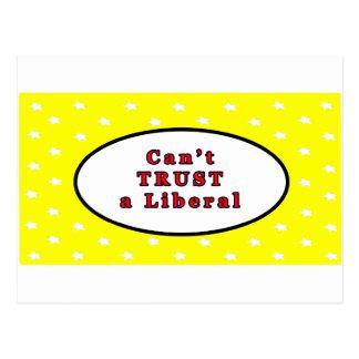 Não pode CONFIAR estrelas liberais de um amarelo O Cartao Postal