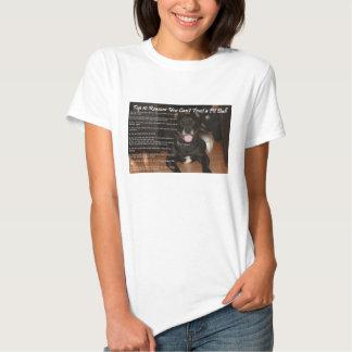 Não pode confiar um Pitbull Camiseta