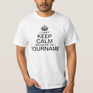 Não pode manter a calma para dar entrada com seu t-shirt