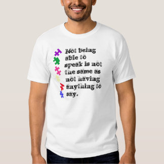 Não poder falar não é o mesmo que não camiseta