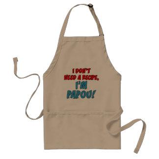 Não precise um avental de Papou da receita
