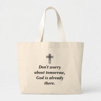 Não preocupe a cruz do bolsa w/Blue