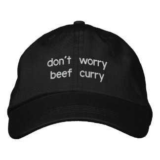 não preocupe o caril da carne boné bordado