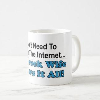 Não procurare o Internet - a esposa grega sabe-o Caneca De Café