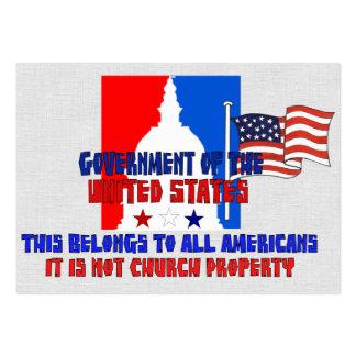 Não propriedade de igreja cartão de visita grande