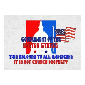Não propriedade de igreja convite personalizados