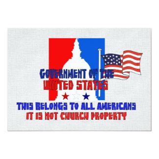 Não propriedade de igreja convite 12.7 x 17.78cm