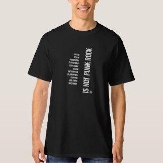 Não punk rock camiseta