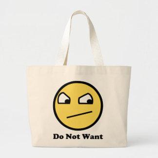 Não queira a cara impressionante sacola tote jumbo