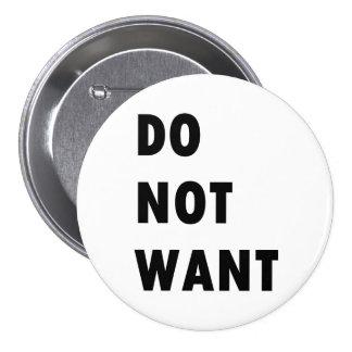 Não queira boton