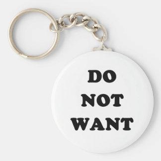 Não queira chaveiro