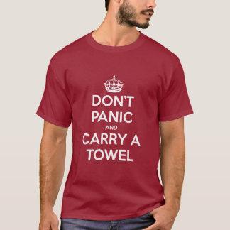 Não se apavore e não se leve uma toalha camiseta