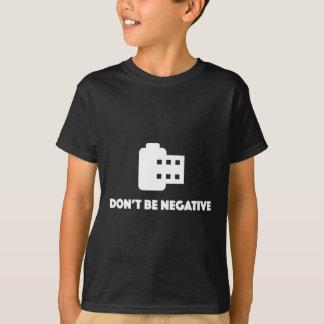 Não seja camisa negativa do fotógrafo