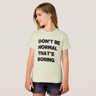 Não seja Tshirt americano do roupa das meninas Camiseta