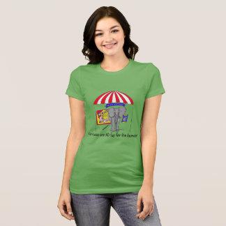 Não sua camisa do circo do entretenimento