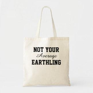 Não sua sacola média do Earthling Sacola Tote Budget