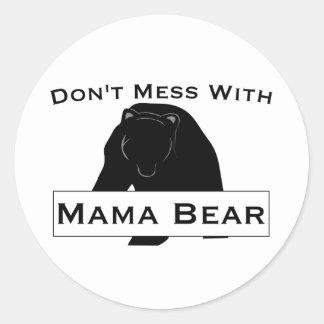Não suje com Mama Carregamento Etiqueta
