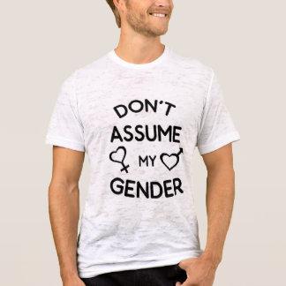 Não supor minha camisa do género