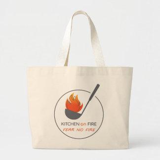 Não tema nenhum saco do fogo bolsa tote grande