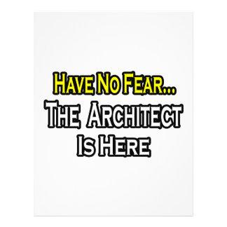 Não tenha nenhum medo, o arquiteto está aqui panfletos personalizado