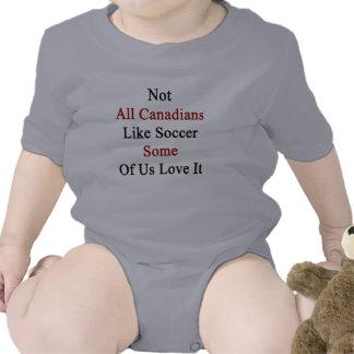 Não todos os canadenses gostam do futebol alguns babadores