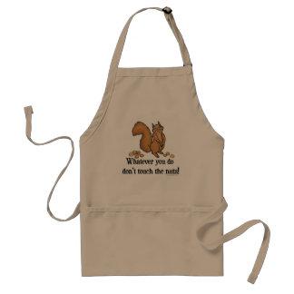 Não toque no esquilo engraçado dos loucos avental