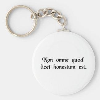 Não tudo que é permitido é honesto chaveiro