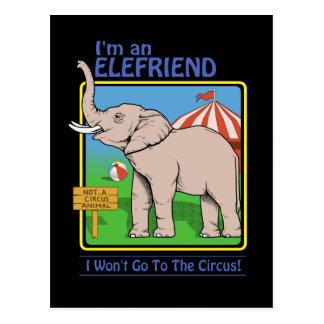 Não um cartão dos animais de circo