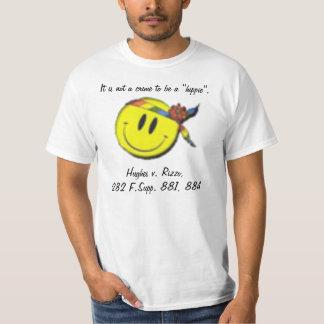 Não um crime a ser um hippie camiseta