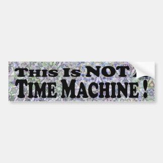 Não uma máquina do tempo - autocolante no vidro tr adesivo