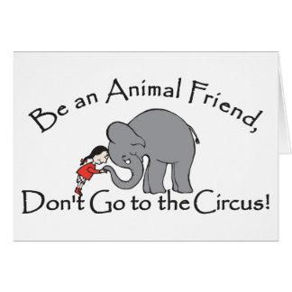 Não vá ao cartão do circo
