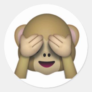 Não veja nenhum macaco mau - Emoji Adesivo