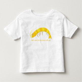"""'Não vem o camarão cru comigo! """" Camiseta Infantil"""