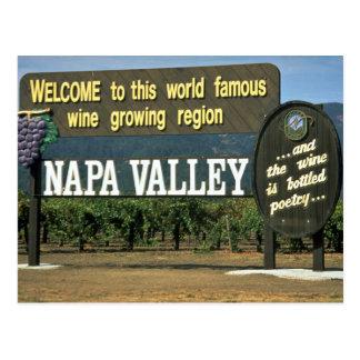 Napa Valley, Califórnia, EUA Cartão Postal