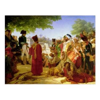 Napoleon Bonaparte que Pardoning os rebeldes Cartao Postal