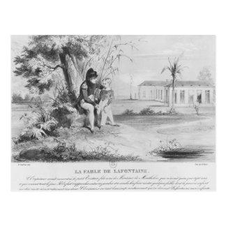 Napoleon mim na ilha de St Helena Cartão Postal