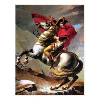 Napoleon que cruza o cartão dos cumes cartão postal