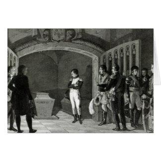 Napoleon que Meditating antes do túmulo Cartão Comemorativo