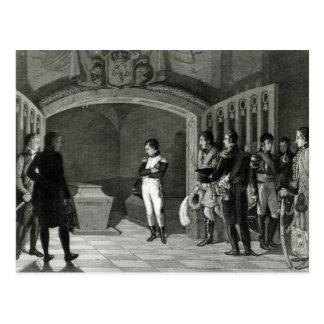 Napoleon que Meditating antes do túmulo Cartão Postal