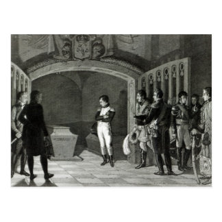 Napoleon que Meditating antes do túmulo Cartao Postal