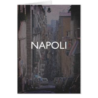 Nápoles Cartão Comemorativo