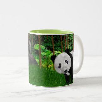 Napping na caneca de café de bambu do bosque