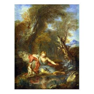 Narciso, 1728 cartão postal
