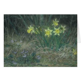Narciso e violetas, c.1867 cartão comemorativo