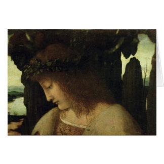 Narciso na fonte cartão comemorativo
