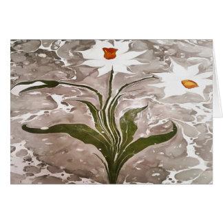 Narciso no mármore cartão comemorativo