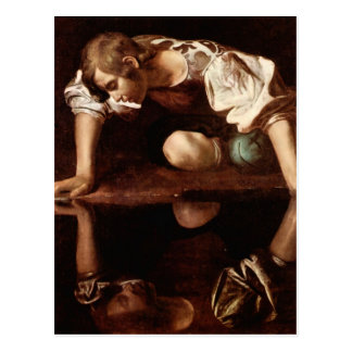Narciso por Caravaggio Cartão Postal