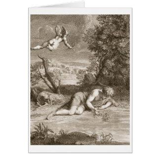 Narciso transformado em uma flor, 1730 (engravi cartão