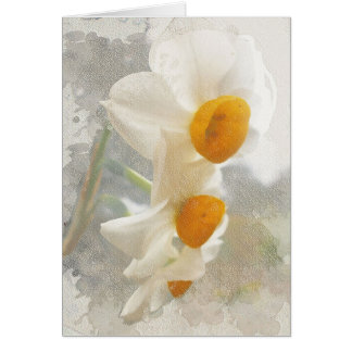 Narciso. Watercolor. Cartão Comemorativo