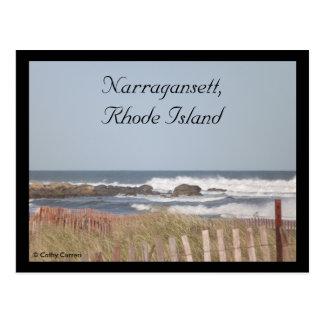 Narragansett, Rhode - cartão da ilha
